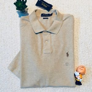 Ralph Lauren Dune Tan Classic Polo Shirt XL New